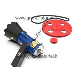 Granuliatorius (darbinė dalis + skriemuliai)
